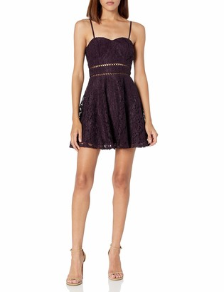 Speechless Women's Allover Lace Sleeveless Party Dress