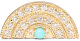 Andrea Fohrman 18-karat Gold, Diamond And Turquoise Earring - one size
