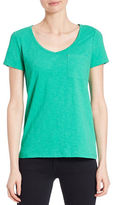 Lord & Taylor Solid V-Neck Tee