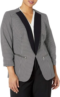 Nine West Women's Plus Size Jacquard JKT