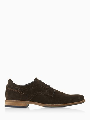 Dune Brampton Suede Derby Shoes, Brown