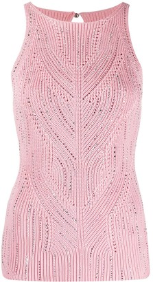 Ermanno Scervino Studded Detail Chunky Knit Top