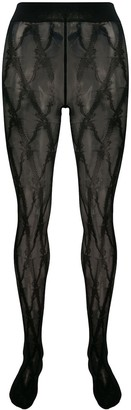 Versace Barocco pattern tights