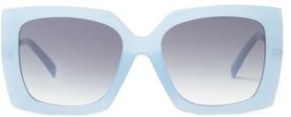 Le Specs Discomania Oversized Square Acetate Sunglasses - Blue