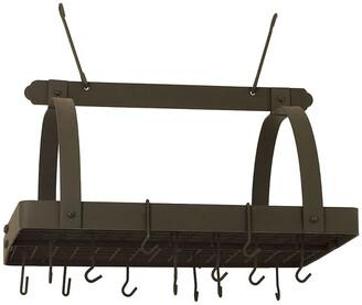 Old Dutch Rectangular Pot Rack With Grid & Hooks