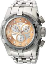 Invicta Men's 'Bolt' Swiss Quartz Stainless Steel Casual Watch, Color:-Toned (Model: 21805)