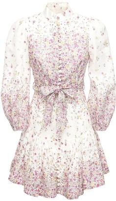 Zimmermann Carnaby Printed Linen Mini Dress