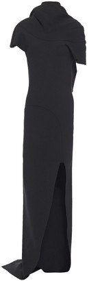 Rick Owens Open-back Draped Knitted Maxi Dress