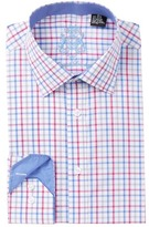English Laundry Check Trim Fit Dress Shirt