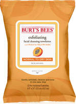 Burt's Bees Facial Cleansing Towelettes - Peach & Willow Bark Exfoliating, 25 count