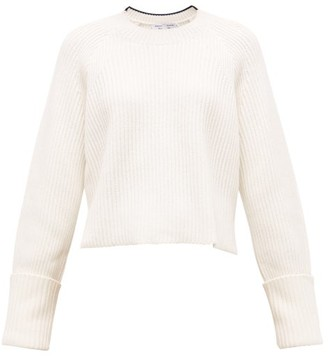 Proenza Schouler White Label Cropped Ribbed Cotton-blend Sweater - Cream