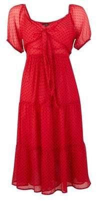 Dorothy Perkins Womens **Red Spot Print Midi Skater Dress, Red