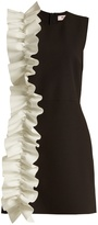 MSGM Ruffled stretch-crepe mini dress