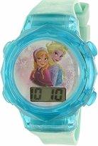 Disney Girl's Quartz Plastic Casual Watch, Color:Blue (Model: FNFKD120)