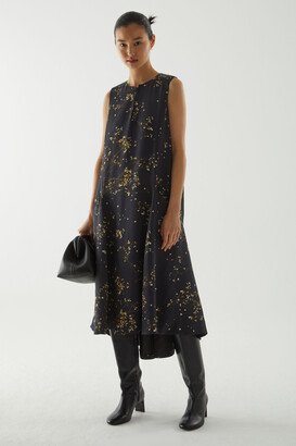 Cos Printed Handkerchief Hem Dress