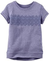 Carter's Baby Girl Crochet Lace Front Top