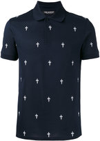 Neil Barrett Fleur de Thunder polo shirt - men - Cotton - M
