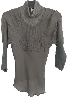 Martine Sitbon Grey Wool Top for Women Vintage