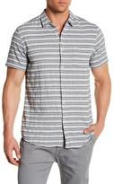 Public Opinion Short Sleeve Geo Stripe Regular Fit Shirt