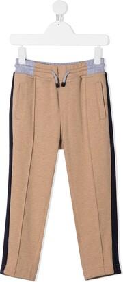 BRUNELLO CUCINELLI KIDS Colour Block Detail Trousers
