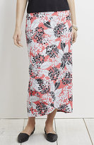 J. Jill Wearever Smooth-Fit Crossover Print Skirt