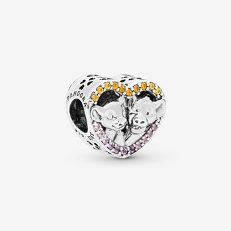 Pandora Disney Lion King Simba & Nala Heart Charm