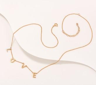 Affinity Diamond Jewelry Affinity Gold Plated Diamond Script Necklace