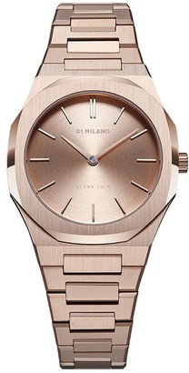 D1 Milano Round Face Stainless Steel Watch
