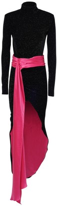 Redemption Glittered High Low Velvet Midi Dress