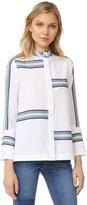 Derek Lam 10 Crosby Bell Sleeve Button Down Shirt
