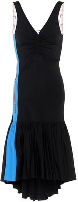 Marine Serre Asymmetric stretch-jersey dress