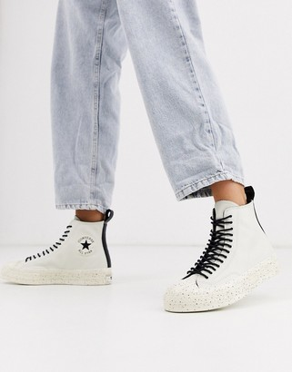 Converse Cream Chuck 70 Hi Speckled Double Eyelet trainers