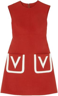 Valentino Grain De Poudre Wool Mini Dress