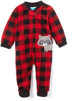 Bon Bebe Red Plaid Racoon Footie - Infant