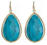Roberta Chiarella Turquoise Checkerboard Teardrop Earrings
