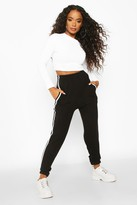 Thumbnail for your product : boohoo Petite Side Stripe Boyfriend Joggers