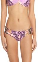 Maaji Women's Pink Sunset Reversible Bikini Bottoms