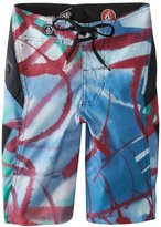 Volcom Boys 8-20 Annihilator Paintwash Boardshort Youth, Blue, 24