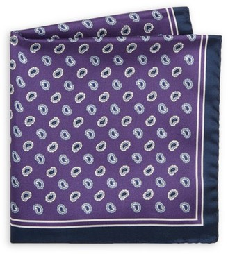 Saks Fifth Avenue COLLECTION Paisley Silk Pocket Square