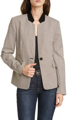 Nordstrom Signature Leather Notch Collar Jkt
