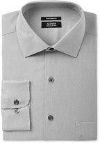 Alfani Men's Classic/Regular Fit Performance Stretch Easy-Care Gray Step Twill Dress Shirt, Only at Macy's