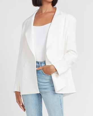 Express Supersoft Oversized Double Breasted Peak Lapel Blazer