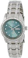 Sartego Women's SSGN73 Metallic Green-Face Dial Stainless Steel Watch