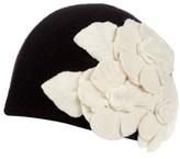 Helene Berman Women's Floral Embellished Cap - Black