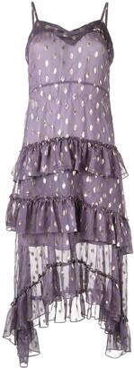 Bambah polka dot ruffle dress