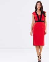 Dorothy Perkins Contrast Tipped Belted Pencil Dress