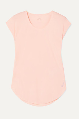 Nike City Sleek Dri-fit Stretch-jersey Top - Pastel pink