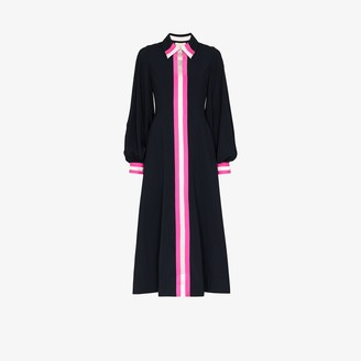 Roksanda Kabru contrast stripe silk shirt dress