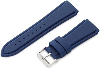 Hadley Roma Hadley-Roma 18mm 'Men's' Silicone Watch Strap