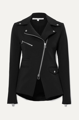 Veronica Beard Hadley Stretch-crepe Biker Jacket - Black